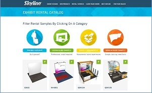 With Skyline portable and custom modular systems, you can rent virtually any exhibit design at any size.  Visit our Rental Catalog to see just some of the exhibit designs we have for rent.
